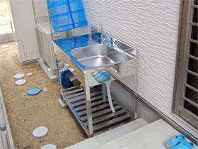 ご自宅の外キッチン(屋外の流し台)設置例