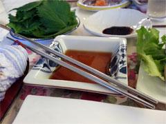 ステンレス箸(食卓風景)